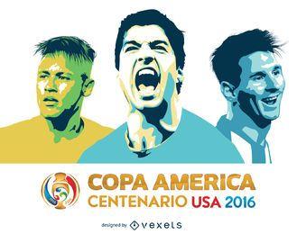 Messi Suarez Neymar Copa América