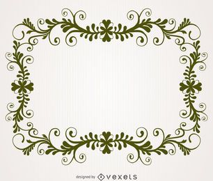Antique floral swirl frame
