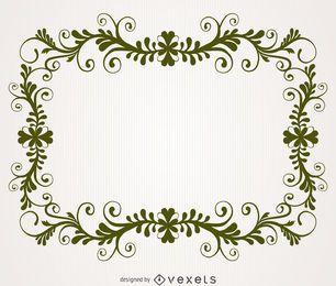 Marco del remolino floral antiguo