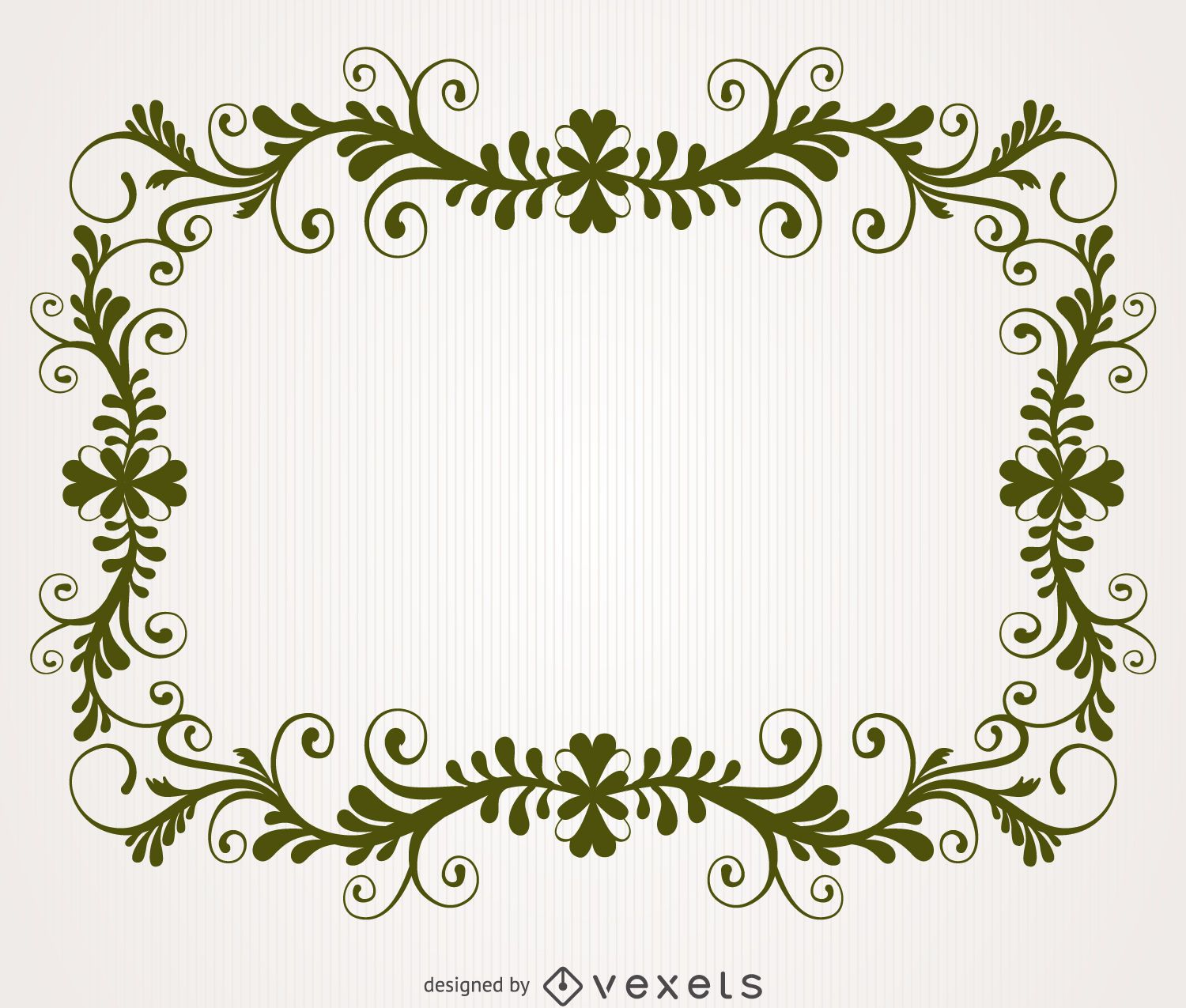 Antique Floral Swirl Frame Vector Download