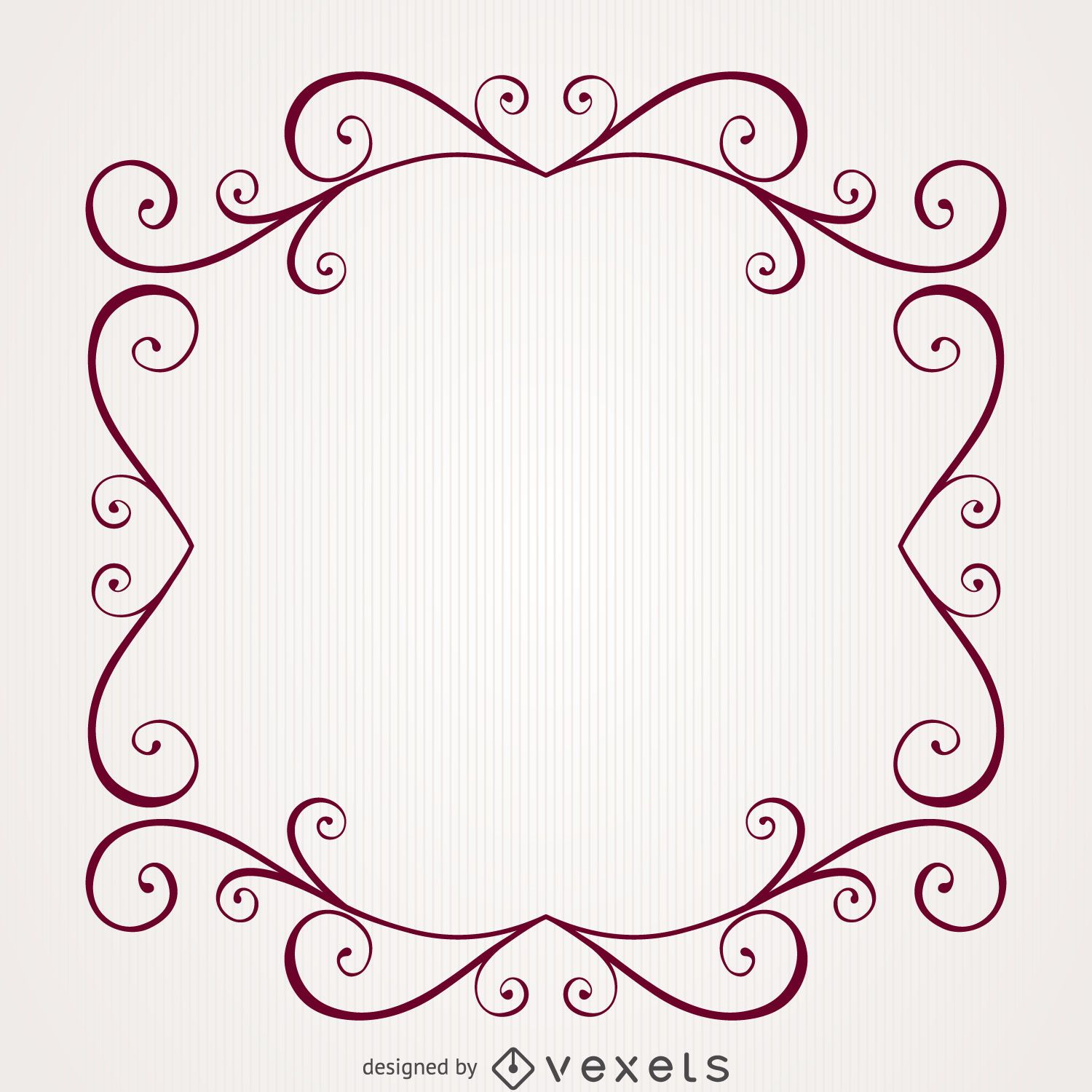 Retro vintage swirl frame - Vector download