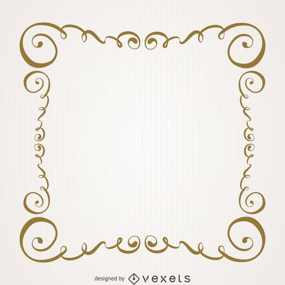 Vintage Gold wirbelt Rahmen