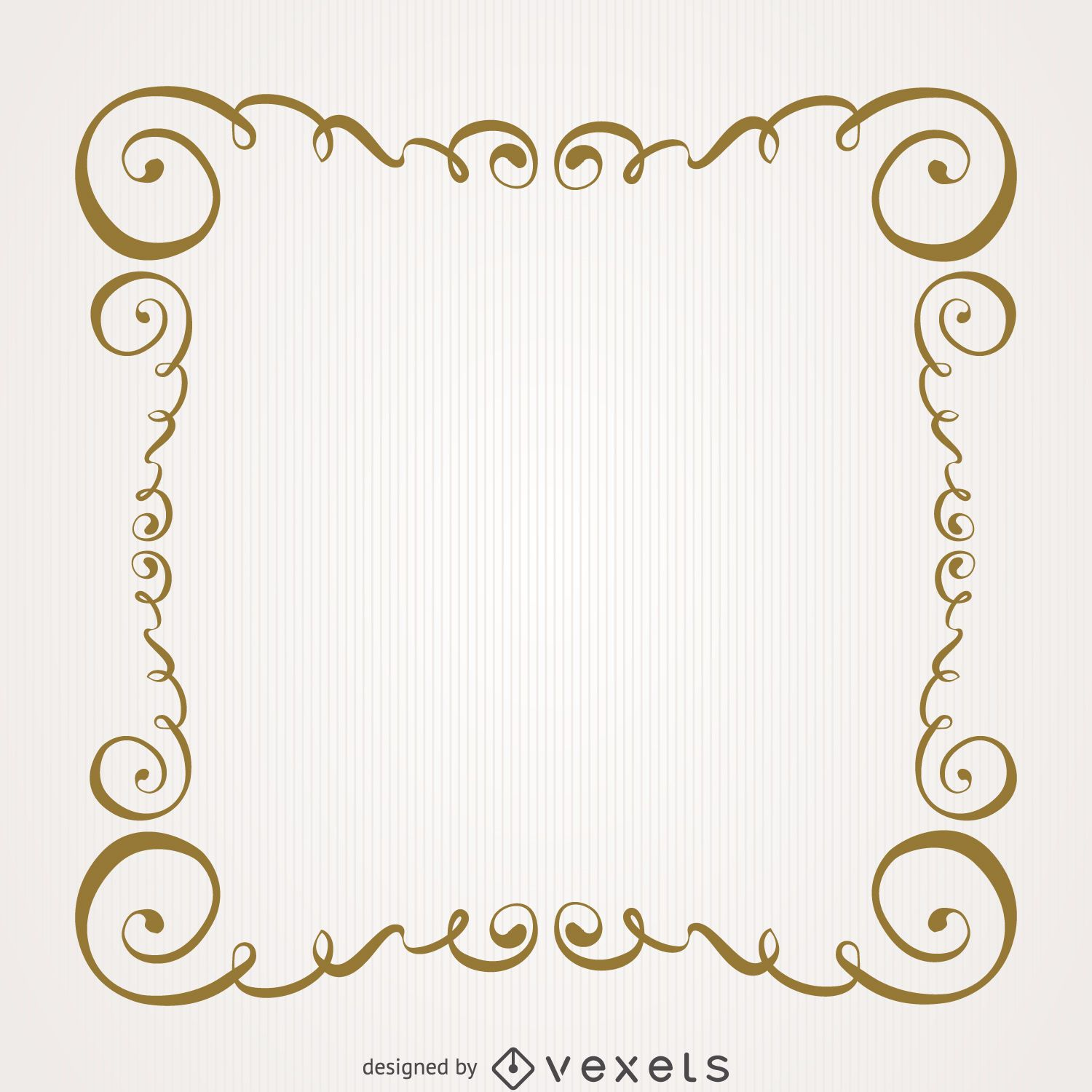 Vintage gold swirls frame - Vector download