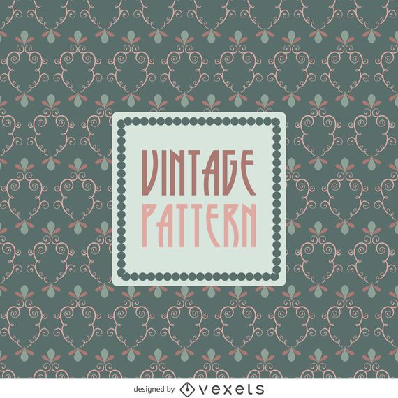 Vintage pattern wallpaper