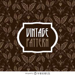 Patrón de hojas vintage