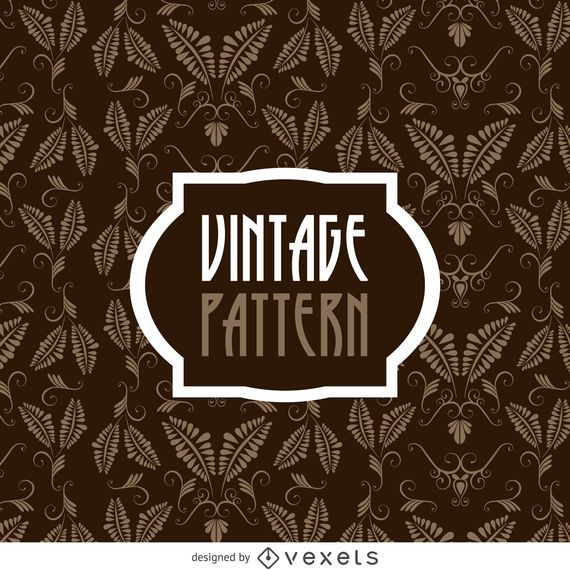 Vintage leaves pattern