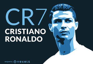 ilustración Ronaldo CR7