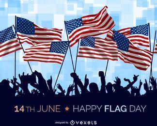 Ilustración del día de la bandera de EE.UU.