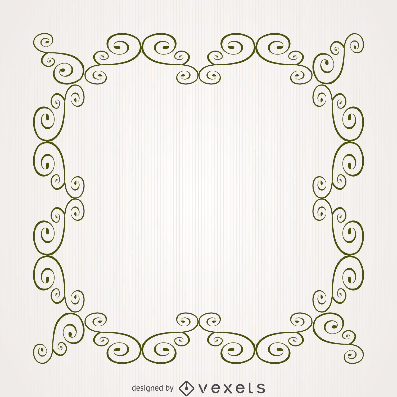 Square swirl frame