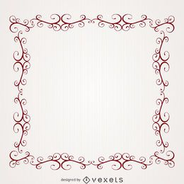 Romantic frame with swirls