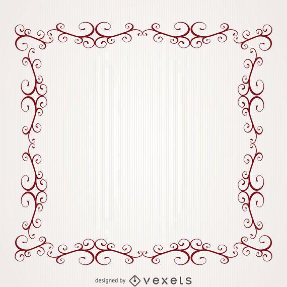 Romantischer Rahmen mit Strudeln