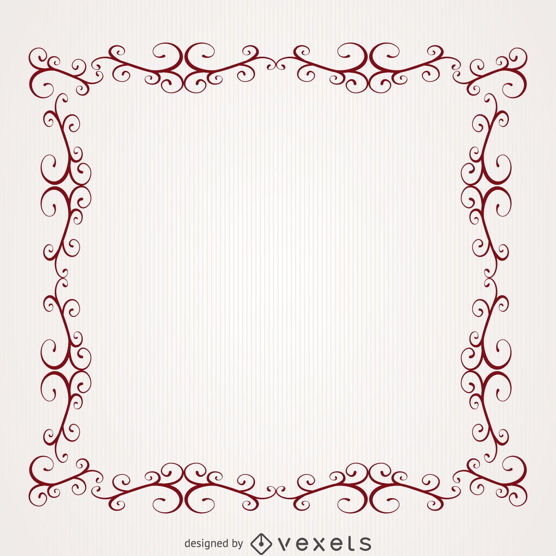 Romantic frame with swirls