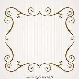 Vintage frame with swirls