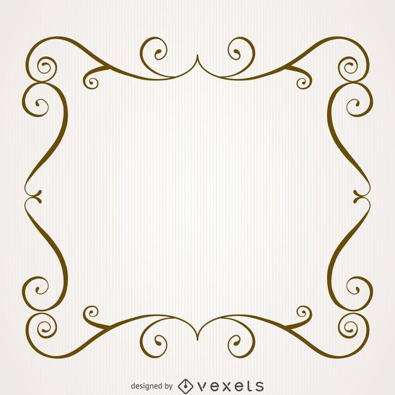 Vintage Frame With Swirls Vector Download