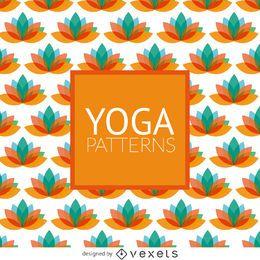 Patrón de loto yoga