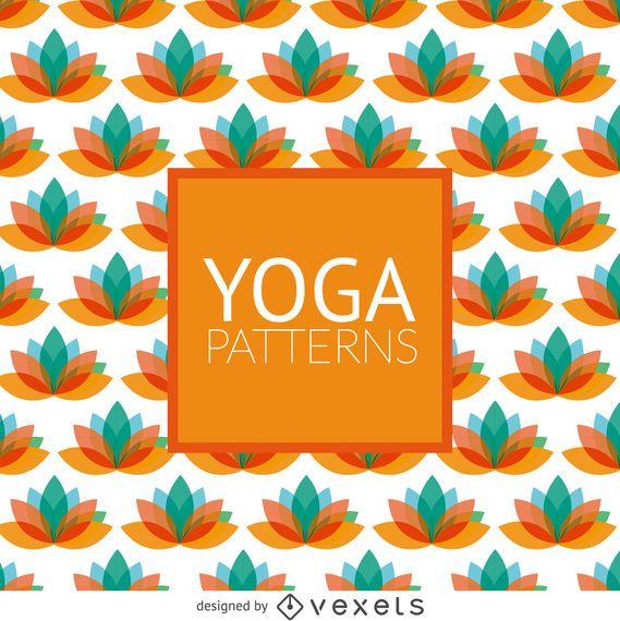 Lotus yoga pattern