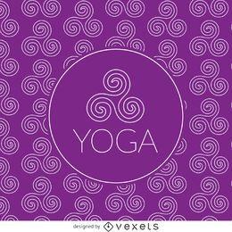 Patrón de dibujo de yoga zen
