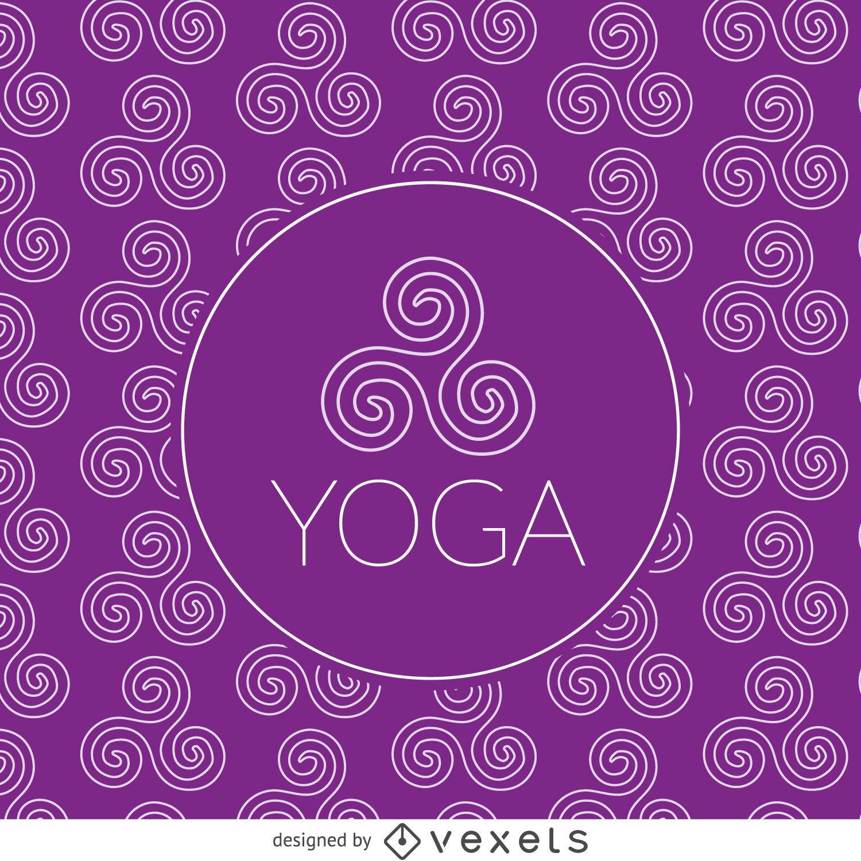 Zen yoga drawing pattern