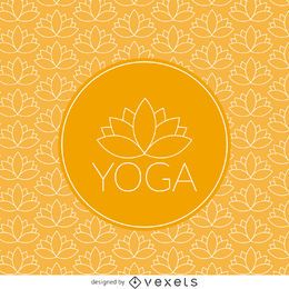 Yoga lotus pattern with label
