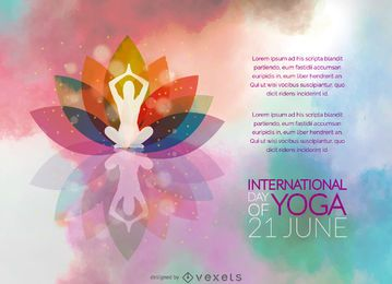 Dia Internacional do cartaz Yoga