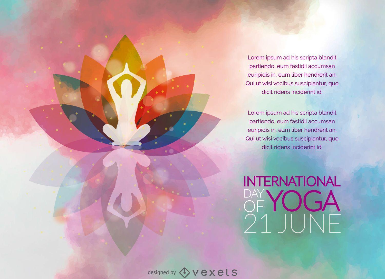 Cartaz do Dia Internacional do Yoga