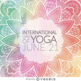 International Day of Yoga mandala