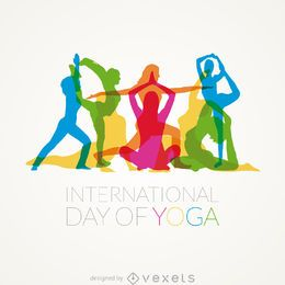 International Day of Yoga poses