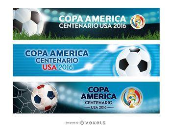 Banners da Copa América EUA 2016