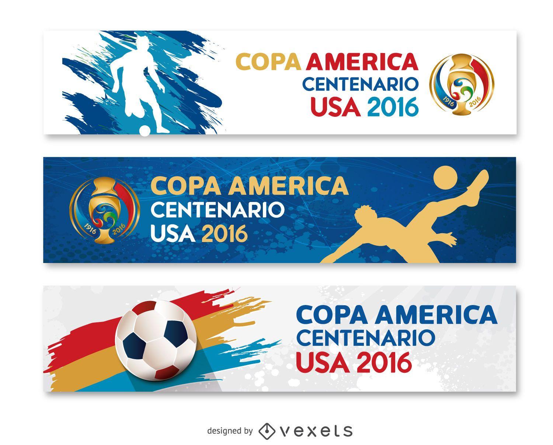 3 estandartes Copa América USA 2016