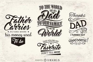 Emblemas de mensagem para o dia do pai