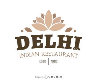 logotipo da comida indiana