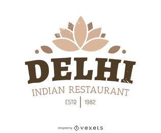 Logotipo de comida indiana