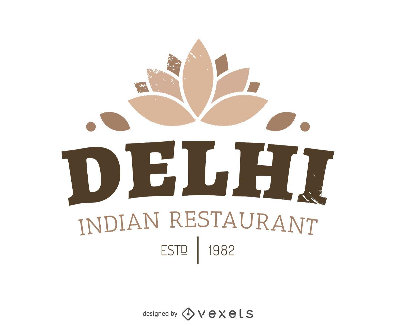 Logotipo de comida india