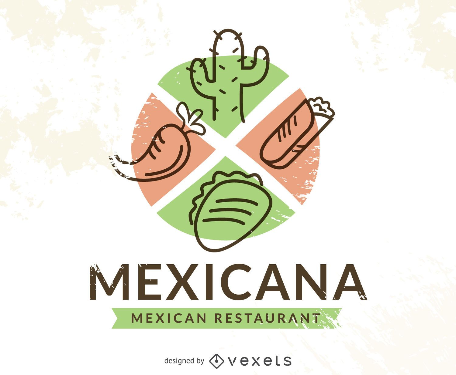 mexican food logo with chile vector download