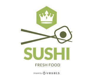 Logotipo de marca de sushi