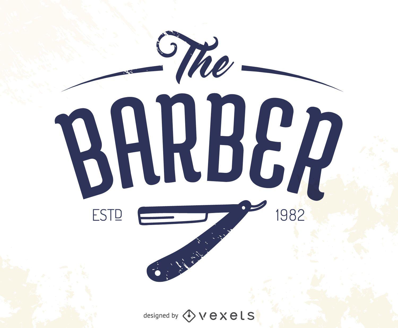 O logotipo do barbeiro