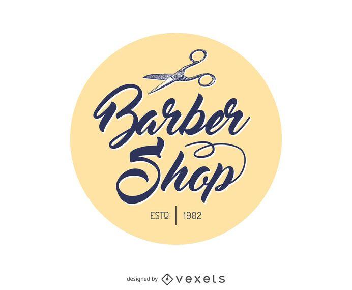 Barber shop circle logo