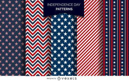 Día de la Independencia de Estados Unidos patrones