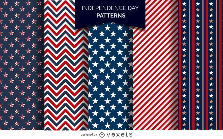 Patrones del Día de la Independencia de los Estados Unidos