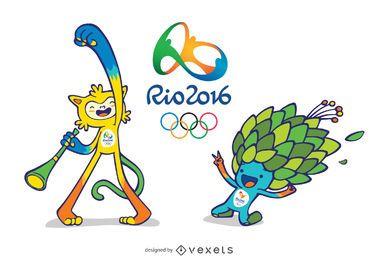 Olympische und Paralympische Maskottchen in Rio 2016