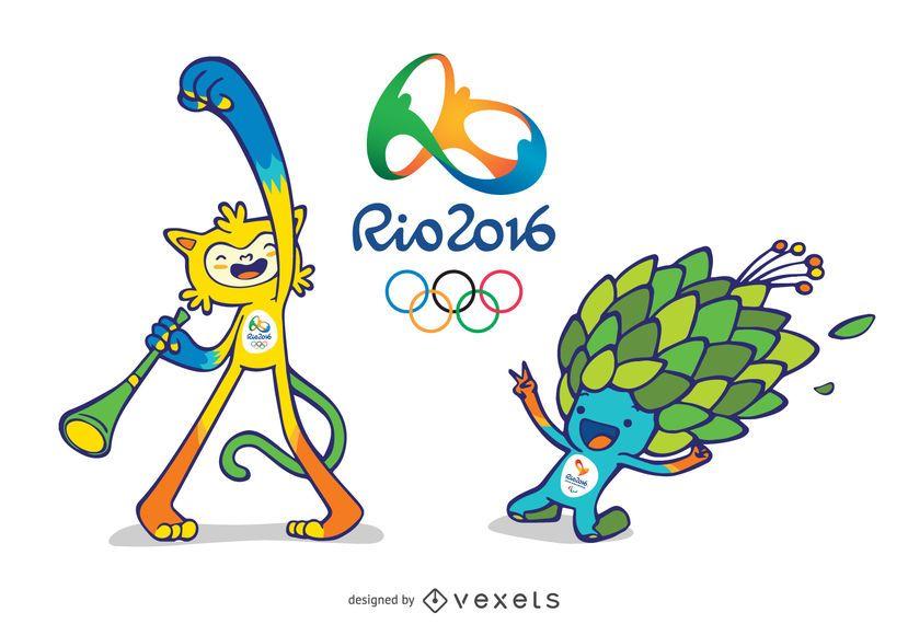Mascotas Olímpicas y Paralímpicas Rio 2016