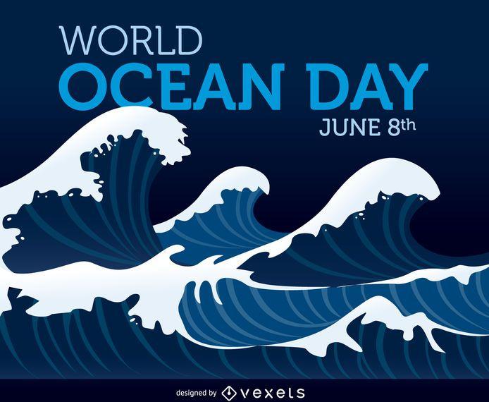 Cartel del Día Mundial del Océano