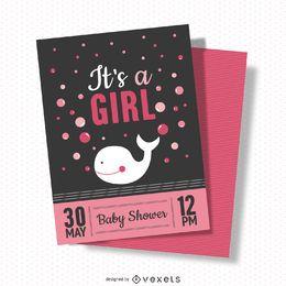 Bebé Cartão do chuveiro