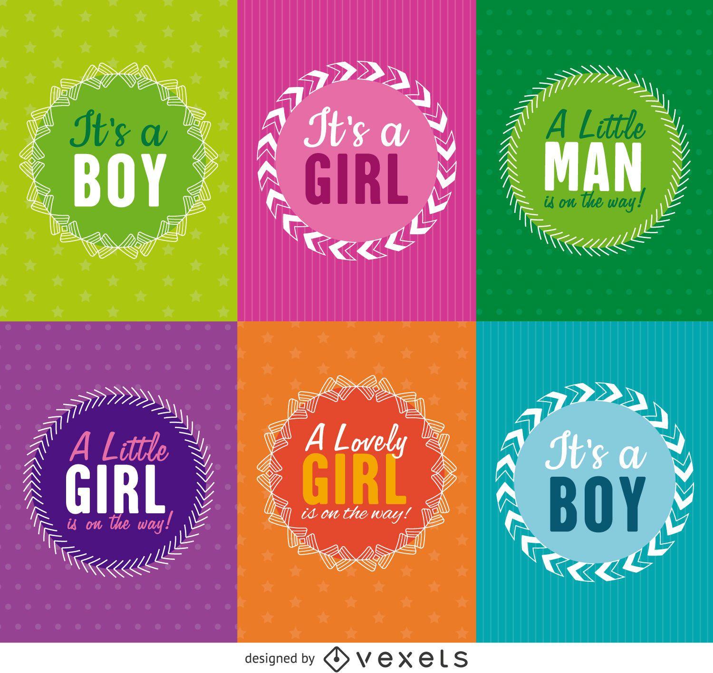 Baby shower label set