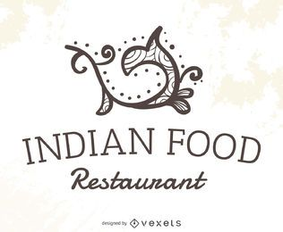 Logotipo de restaurante de comida indiana