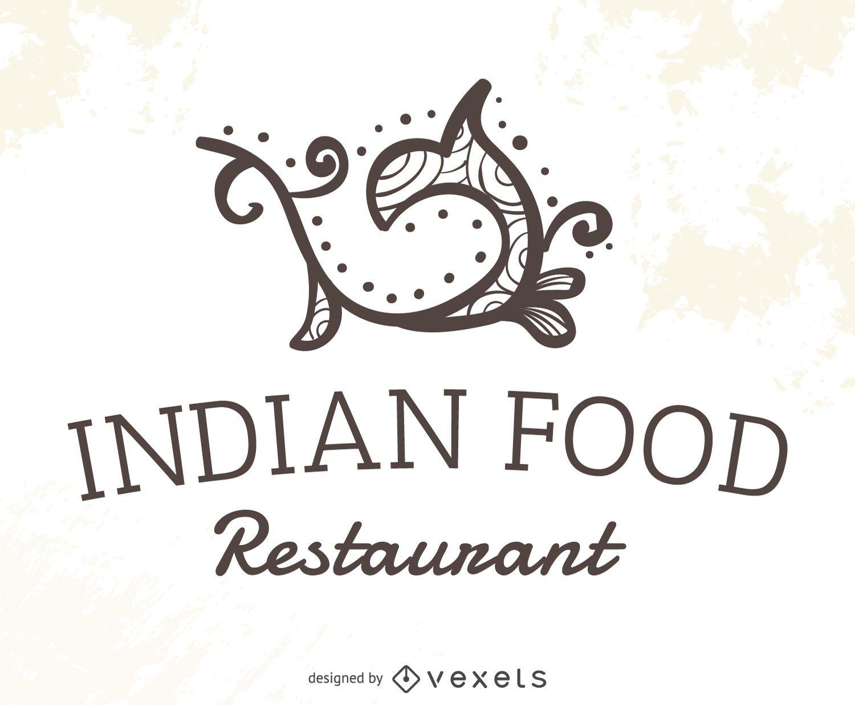 Logotipo de restaurante de comida india