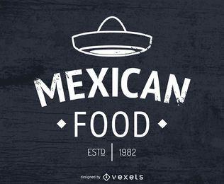 Logo de comida mexicana con sombrero.