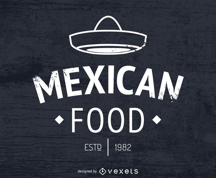 Mexican food logo with hat