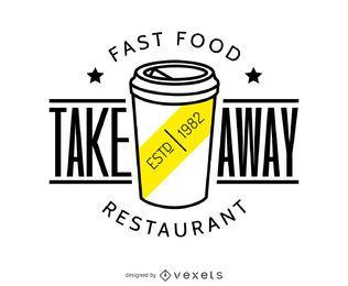 Para llevar el logotipo de alimentos