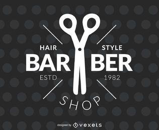 Rótulo de salão de cabeleireiro de barbeiro